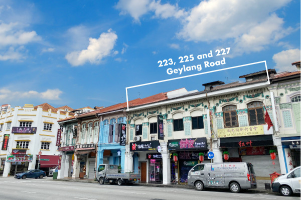 Three conservation shophouses in Geylang for sale at $12 mil - EDGEPROP SINGAPORE